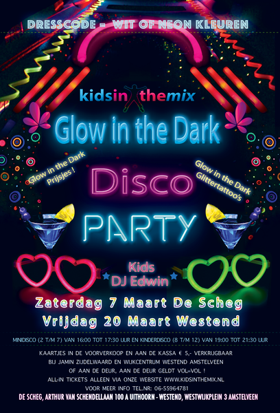Glow in the Dark Kinderdisco Poster